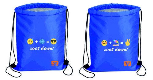 "Sportbeutel ""cool down"" Farbe blau"