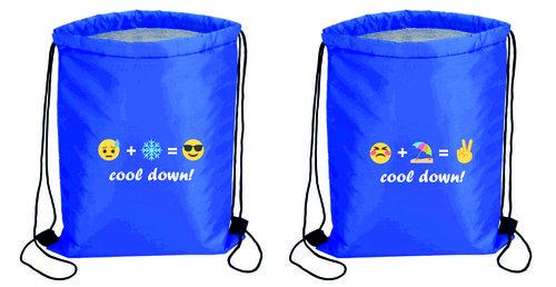 "Sportbeutel ""cool down"" , Farbe blau,"