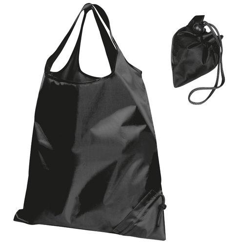 Faltbare Einkaufstasche schwarz