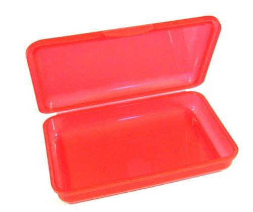 Brotbox - rot, Maße: 21 x 13 x 4 cm