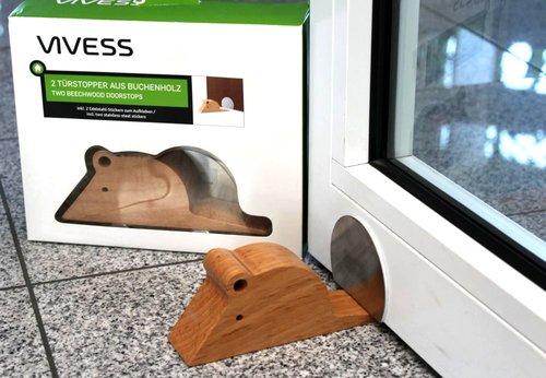 2 Türstopper aus Buchenholz