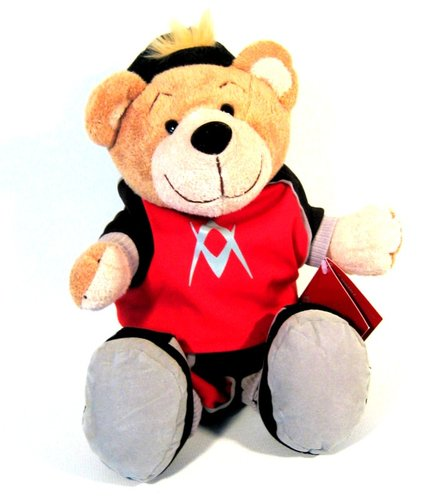Plüsch-Teddy mit Basecap und T-Shirt,