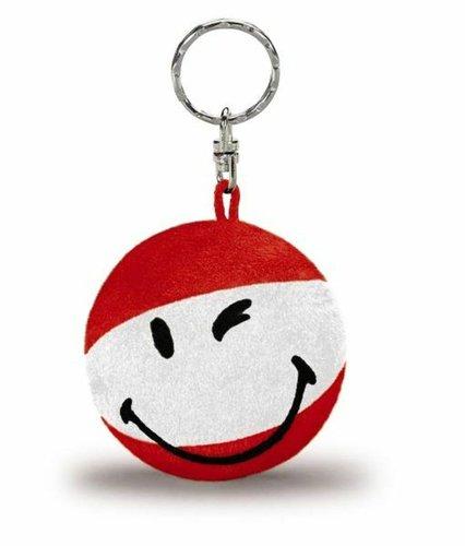 Smily-Schlüsselanhänger rot/weiß