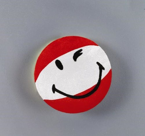 Plüsch Smily rot/weiß  8cm